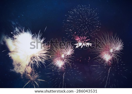 Abstract fireworks celebration background