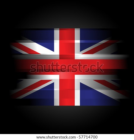 Abstract Flag of Great Britain on black background - stock photo