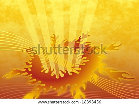 abstract flame background - stock photo