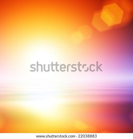 Abstract flare background - stock photo