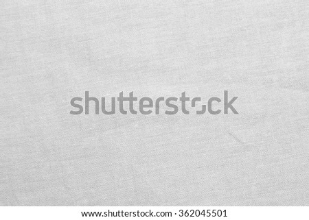 Abstract flat bright white color harsh fabric textile texture background:detail of plain burlap backdrop:rustic seamless pattern canvas structure clothing concept:grey color of linen wallpaper picture - stock photo