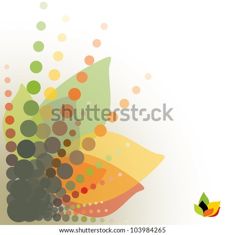 abstract floral background, autumn illustration