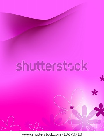 Abstract floral background in pink color with copy space