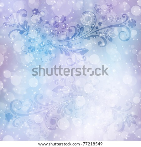 abstract  floral  background with decorative flowers for design