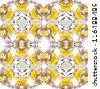 Abstract floral kaleidoscope seamless pattern - stock photo