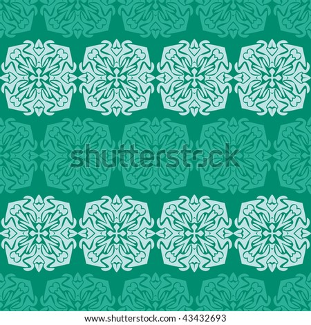 abstract floral seamless pattern - stock photo