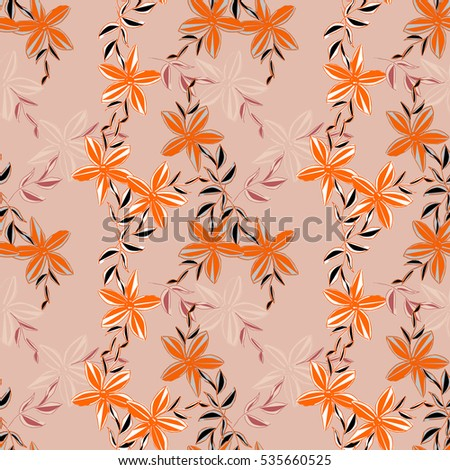 Abstract floral seamless pattern, hand painting