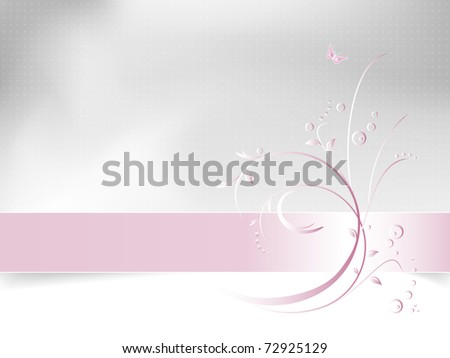 Abstract floral spring background - romantic flower card design - white, pink and light grey - suitable for themes like love, beauty, spring, valentine, birthday, wedding and the like - stock photo