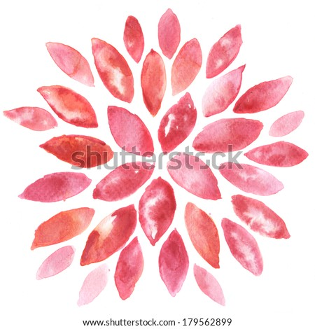 Abstract floral watercolor paintings - stock photo