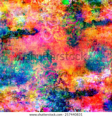 Abstract flower background with vibrant color tones and grunge style design. - stock photo