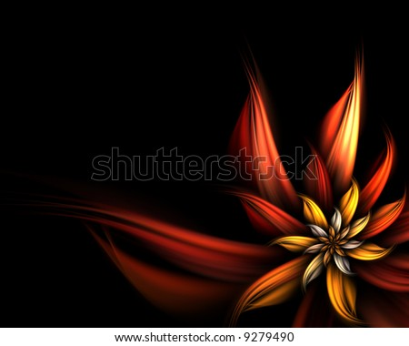 abstract flower fractal - stock photo