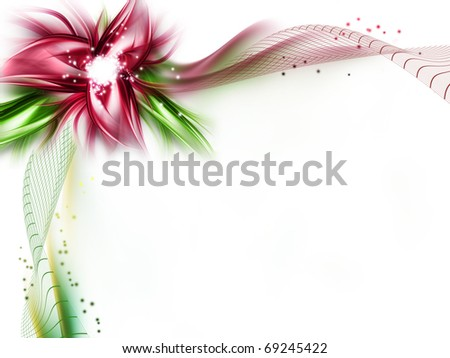 abstract flower on a white background