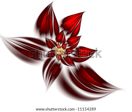 abstract flower on white background - stock photo