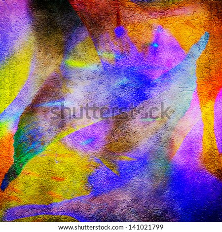 Abstract Flower Petals - stock photo