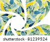 Abstract flower watercolors crop composition - stock photo