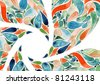 Abstract flower watercolors illustration concept - stock photo