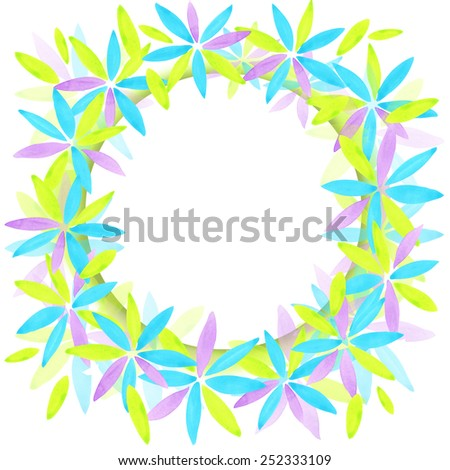 Abstract flower wreath background. Abstract art. Abstract artistic Background.  Watercolor abstract art. Abstract texture paper. modern abstract art design - stock photo