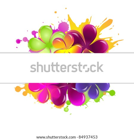 Abstract Flowers, Isolated On White Background