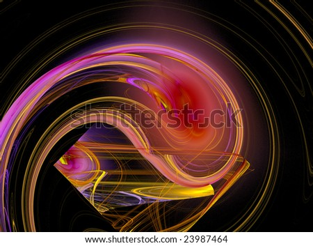 Abstract flowing design - stock photo
