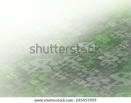 Abstract Flowing or Moving Green and Black Dollar Symbols Background. Perfect for all Financial Communications.  - stock photo