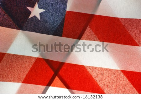 Abstract Folded American Flag - stock photo