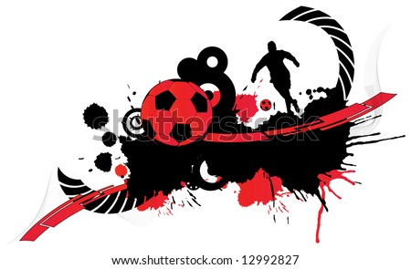 Abstract football creation (background, magazine, web, logo...)