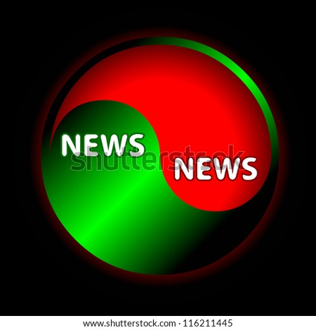 Abstract form of news on a white background - stock photo