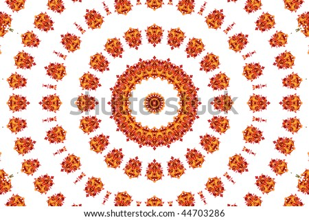 Abstract fractal background: autumnal leaves - stock photo
