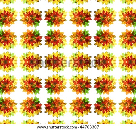 Abstract fractal background: autumnal maple leaves colors - stock photo
