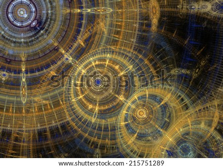 Abstract fractal background design - stock photo