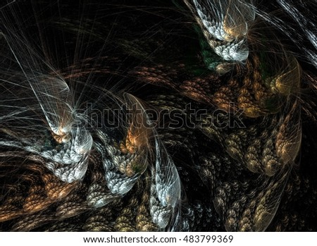 Abstract fractal background. Design element for brochure, advertisements, web and other graphic designer works.
