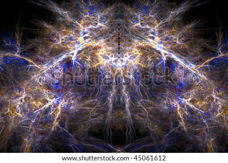 Abstract fractal background design, horizontal - stock photo
