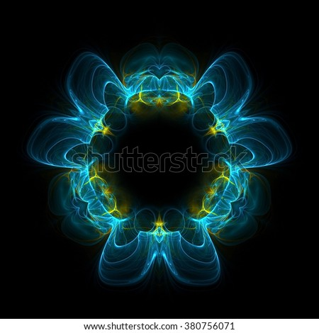 Abstract fractal background element