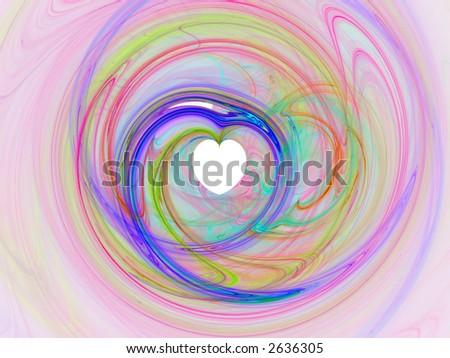 Abstract fractal background for Valentine's day