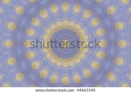 Abstract fractal background (made from oriental ornaments from Isfahan Mosque, Iran) - stock photo