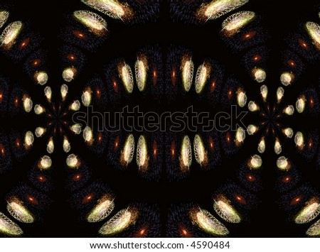 abstract fractal background of fireworks to be used as a design element