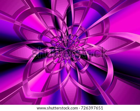 Abstract fractal background purple flower ribbons stock illustration abstract fractal background purple flower of ribbons on a lilac blue background computer image thecheapjerseys Images