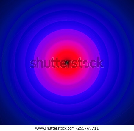 Abstract fractal background with a pattern of large rings and glowing central disc, in high resolution and in vivid red,pink,purple - stock photo