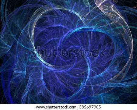 Abstract fractal background with rotation elements , sparks , smoke - stock photo