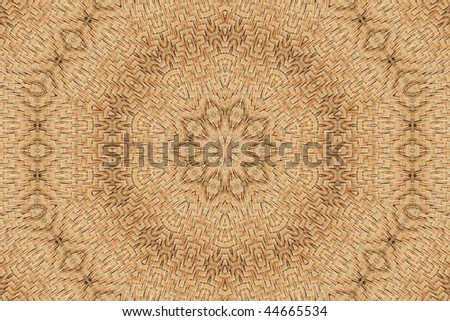 Abstract fractal background (woven reeds) - stock photo
