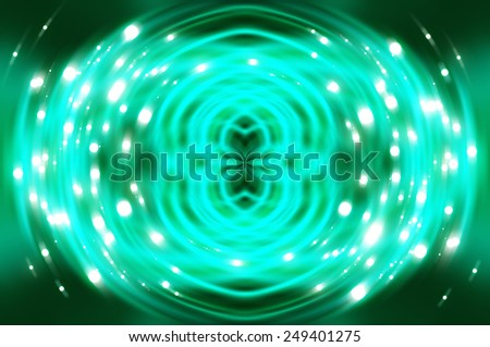 Abstract fractal blue background with crossing circles and ovals. disco lights background. - stock photo