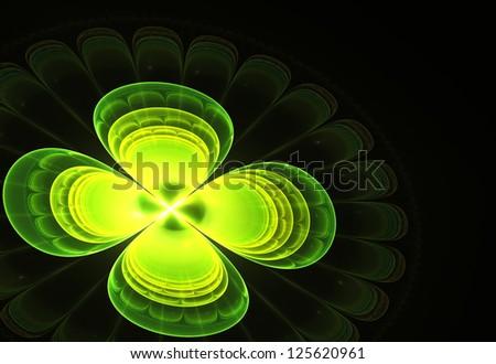 abstract fractal cloverleaf - stock photo