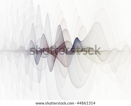 Abstract fractal design looking like an electronic sine sound or audio wave demonstrating frequency and wavelength - stock photo