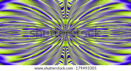 Abstract fractal explosion background with a detailed beaming pattern in high resolution in purple and yellow colors
