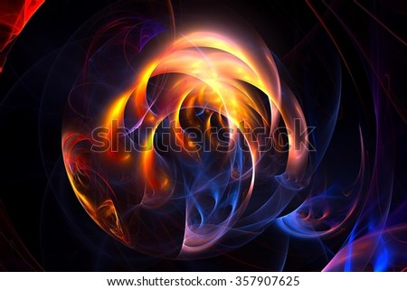 Abstract fractal flame ball background