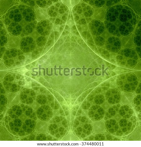 Abstract fractal geometric background