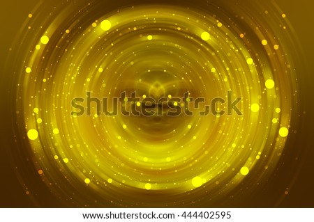 Abstract fractal golden background with crossing circles and ovals. disco lights background. - stock photo