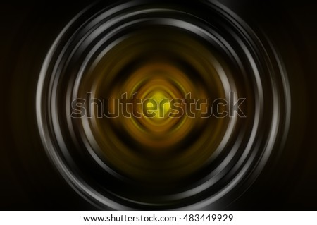 Abstract fractal golden background with crossing circles and ovals. motion illustration. motion illustration.