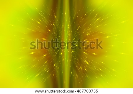 Abstract fractal green background. Magic illustration