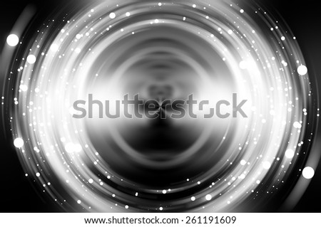 Abstract fractal grey background with crossing circles and ovals. disco lights background. - stock photo